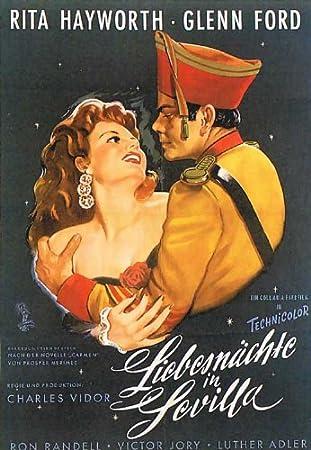 Los Amores de Carmen 11 x 17 en alemán Póster de película ...