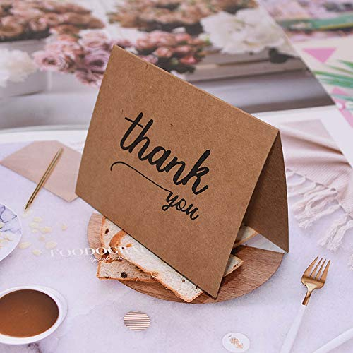 Runfon 6Pcs/Set Vintage Brown Cards Craft Paper Invitation Greeting Cards with Envelopes Wedding Party Event Decor Supplies from Runfon