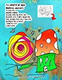 For COUNTRY OF INDIA Whimsical landscapes coloring book handmade drawings including: earth, sky, moon, stars, mountains, trees, flowers, mushrooms, ... houses: ''I Draw You Color'' by Grace Divine