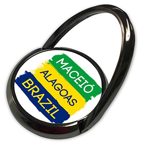3dRose Alexis Design - Brazilian Cities - Maceio, Alagoas National Colors Patriot Brazil Home Town Design - Phone Ring (phr_311939_1)
