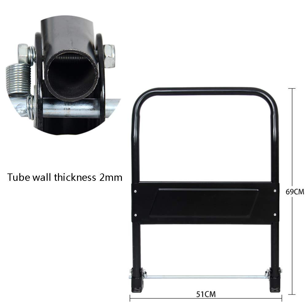 Black Four Wheel Trolley Handrailer Handrail DIY Handle High Handrail Steel Pipe Handrail Thicken Seamless Steel Pipe Flatbed