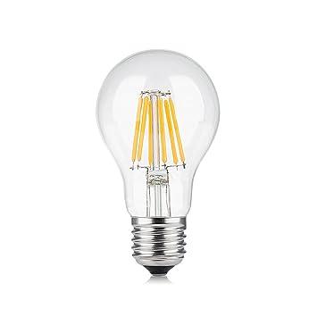 Bombillas LED de filamento Industrial Vintage con Forma de Jaula de Ardilla EdisonE 27 E/E14/B22, Bombillas Decorativas, 220-240 V CA [Clase energética A+]: ...