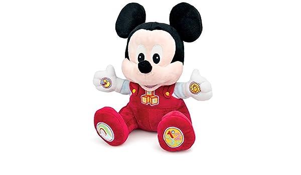 Amazon.com: Clementoni Juega y aprende con Baby Mickey, Peluche educativo: Toys & Games