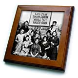 3dRose LLC ft_46926_1 Framed Tile, 8 by 8-Inch, Lips That Touch Liquor-Prohibition Poster, Prohibition, Humor, Funny, Movie-Thomas Edison