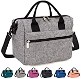 Venture Pal Lunch Box Insulated Lunch Bag with Adjustable Shoulder Strap, Water Resistant Leakproof Cooler Bag Lunch Container for Women/Men/Kids/Work/School/Picnic (Gray)
