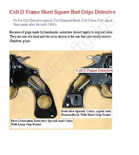 Amazon.com : CNW12 ## New Colt D Frame Grips Detective Short Square Butt  Colt Detective Colt Diamond Back Colt Agent Engraved Laser Hardwood Wood  Handmade ...