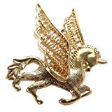 NOVICA Yellow 21k Gold Plated .925 Silver Brooch Pegasus