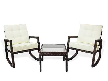 Terrific Amazon Com Patio Resin Outdoor Set Of 2 Rocking Chairs Ibusinesslaw Wood Chair Design Ideas Ibusinesslaworg