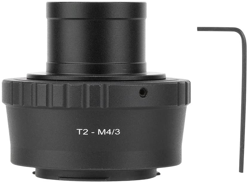 T2-M4//3 Telescope Adapter Ring 1.25inch Metal Telescope Mount Adapter Ring for Olympus for M4//3 Camera.