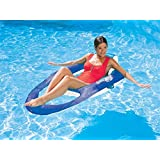 Swimways Spring Float Recliner for the Swimming Pool White Blue 13018 by Spring Float