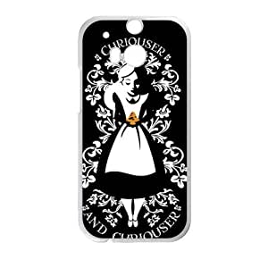 alice in wonderland curiouser and curiouser Phone Case for HTC One M8 by ruishername