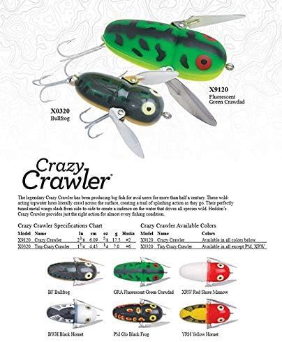 """Heddon Crazy Crawler /""""Black Hornet/"""""""