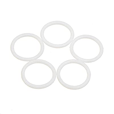 5 bandas de goma y cinturón de polea redonda elástica, lote educativo para Lego Technic, color blanco: Oficina y papelería