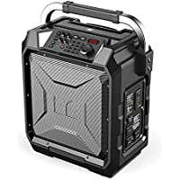 Monster Rockin Roller 3 | 100W Portable Indoor/Outdoor Water Resistant Wireless Speaker with TWS Technology (Connect 2 Speakers Wirelessly) and NOAA Weather Radio