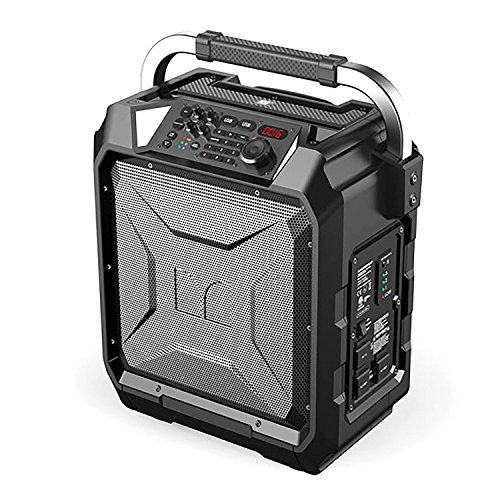 Monster Rockin' Roller 3 | 100W Portable Indoor/Outdoor Water Resistant Wireless Speaker with TWS Technology (Connect 2 Speakers Wirelessly) and NOAA Weather Radio by Monster