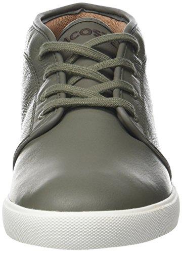 Uomo 118 a Lacoste Khk Wht Ampthill Off Alto Cam Sneaker Verde Collo 2 WAU4A