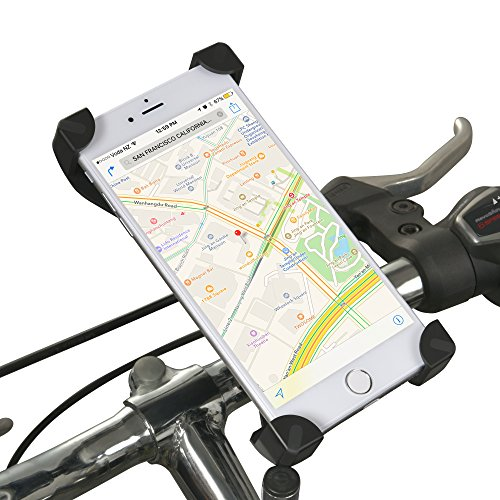 Find Bargain DAWAY Universal Bike Cell Phone Mount A125 Bicycle Handlebar Phone Holder Cradle for iPhone 7 6S 6 Plus 5s 5c, Galaxy S7 S6 S5 S4 S3, Note 3 4 5, Nexus,LG, Nokia, HTC or Other Smartphone & GPS