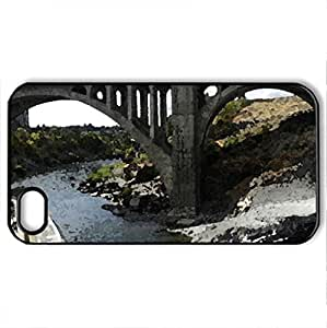 Spokane Bridge - Case Cover for iPhone 4 and 4s (Bridges Series, Watercolor style, Black)