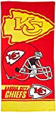 NFL Kansas City Chiefs Double Covered Beach Towel, 30 x 60-Inch