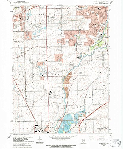 Normantown IL topo map, 1:24000 scale, 7.5 X 7.5 Minute, Historical, 1993, updated 1994, 26.6 x 22 IN - - Village Brookwood