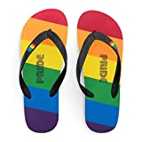 Pride Flip Flop Sandals, Thong Style LGBT Pride Rainbow Colored Flip Flops, Pride With Every Stride (6)