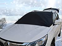 Windshield Snow Cover with Magnetic Edges - Used for Frost, Snow, and Ice Protection - One Size Fits All Cars - Sedan, Truck, SUV, Van - Durable - Weatherproof - Frozen Windshields - Easy to Use