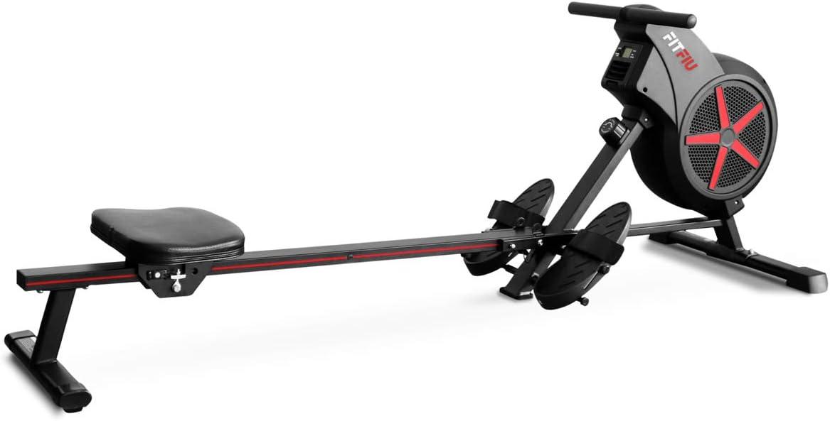 Fitfiu Fitness FITFIU-Remo RA-100 Resistencia magnética y de Aire Crosstraining y Cardio, Adultos Unisex, Negro, 115 x 25 x 77