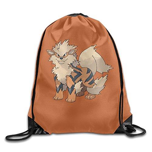 Pokemon Arcanine Drawstring Backpack Sack Beam Port Bag - Pokemon Beams