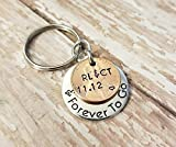 Personalized Penny Year and Forever To Go 1980 - 2018 Lucky Penny Key Chain Anniversary Date