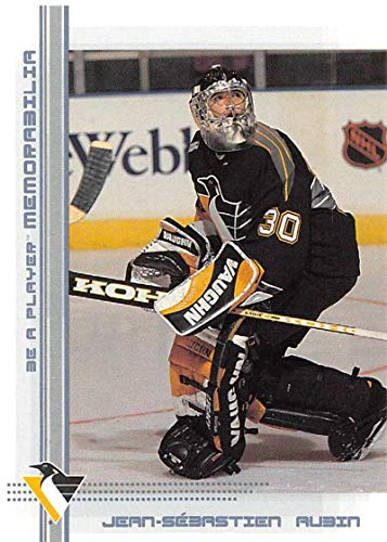 2000-01 Be A Player Memorablia Hockey #54 Jean-Sebastien Aubin Pittsburgh Penguins Official Trading Card From ITG In The Game