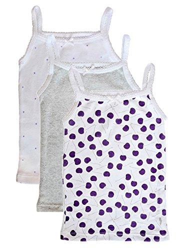 Feathers Girls Cherry Print Set Tagless Cami Super Soft Undershirts (3/pack) Cherry Print 7 (Underwear Cami)