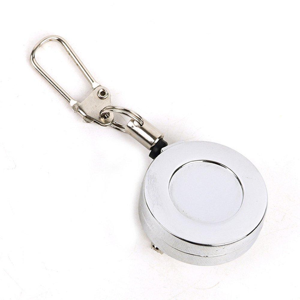 YASHANG Métal Rétractable Porte-clés Pin De Sécurité Clés En Acier Inoxydable Câble Pêche Zinger