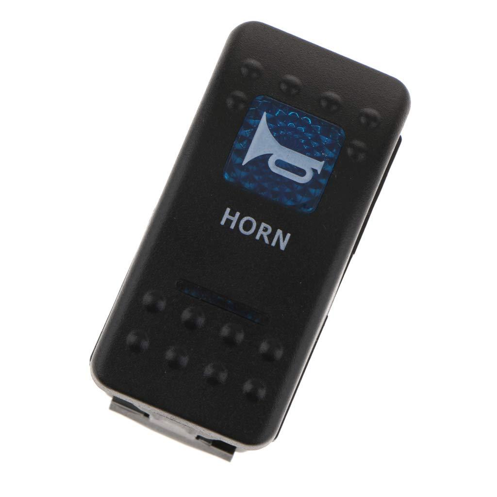Metall 5 Pins Toggle Horn Wippschalter Rocker Kippschalter F/ür Auto LKW Boot Schalter perfk ABS