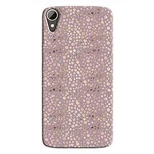 Cover It Up - Brown Violet Pebbles Mosaic Desire 828 Hard Case