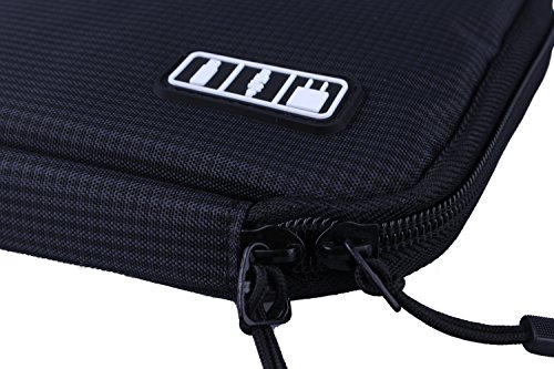 Shopper Joy Travel Electronics Cable Organizer Bag Case for Digital Accessories Devices Gadget Portable Storage Bag for Hard Drives Charger Various USB Adapter Power Bank - Black by Shopper Joy (Image #3)