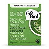 GoBIO! Organic Bouillon Cubes and Broth-Yeast Free Vegetable Cubes, 66g