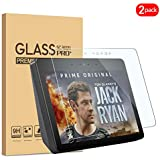KATIAN Amazon Echo Show 2 Screen Protector, HD Clear Protector [Anti-Scratch] [Anti-Fingerprint] [No-Bubble], 9H Hardness Tempered Glass Screen Film for Amazon Echo Show 2 (2nd Gen) 10.1' [2 Pack]