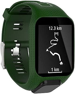 Fewao Tomtom Correa De Reloj De Silicona De Repuesto para Tomtom Runner 2/Runner 3/Spark 3/Adventurer/Golfer 2 Deportes GPS Running Smartwatch