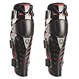 Webetop 1 Pair Adult Knee Shin Guards Flexible Breathable Adjustable High-Impact PE+EVA Motorcycle Motocross MTB Knee Pads for Riding Cycling-One Size Fits Most,Top Quality and Comfortable