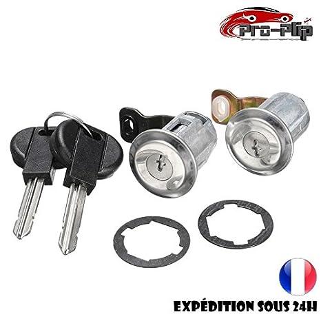 Kit de cerraduras de puerta + cilindros para Citroën Berlingo, Xsara, Peugeot Partner 252522 + llave: Amazon.es: Electrónica