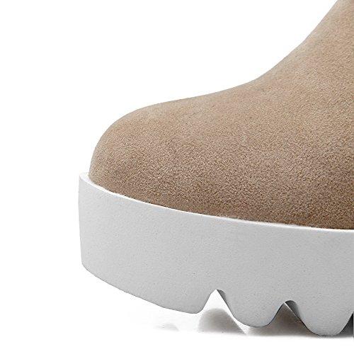 Allhqfashion Da Donna Imitato In Camoscio Con Cinturino Alla Caviglia E Tacco Alto Beige