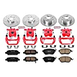 Power Stop KC092 1-Click Performance Brake Kit with Caliper, Front & Rear