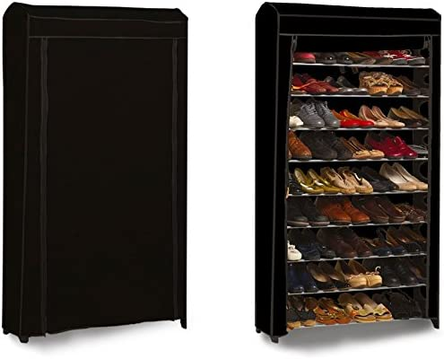 Probache Etagere Range Chaussures 50 Paires Modulable Housse Noire Amazon Fr Bricolage