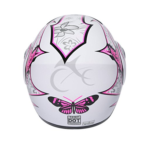 XFMT Pink Butterfly Flip Up Motorcycle Modular Full Face Women Motorcycle Helmet L