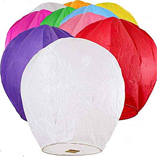 Chinese Sky Lanterns,Environmentally Friendly Paper Lanterns (Pack of 10) by Honereny