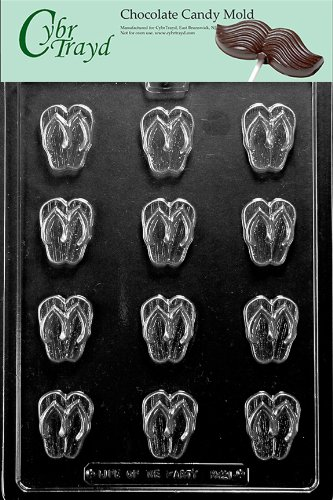 cf65d247b17202 Image Unavailable. Image not available for. Color  Cybrtrayd M221 Bite Size  Flip-Flops Chocolate Candy Mold with Exclusive Cybrtrayd Copyrighted ...