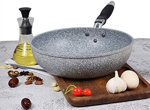 DXDUI 28Cm Ménages Non-Stick Pan, Pan Pan Wok Profond Poêle À Gaz Cuisinière Universal