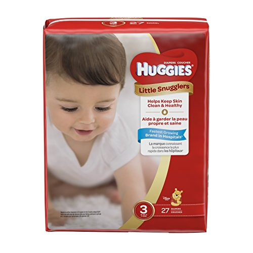 Huggies Little Snugglers Baby Diapers, Size 3, 27 Count, JUMBO PACK (Packaging May Vary)