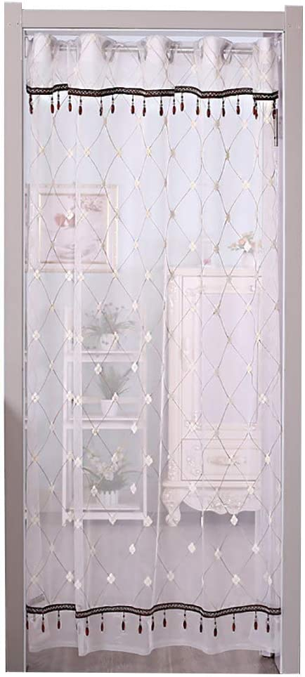 CHHBOX Puerta Mosquitera Enrollable/Mosquitera para Puerta De Terraza/Mosquitera para Puerta ProteccióN contra-Color SóLido, Estilo Rejilla,White-(W) 75-100cmx(H) 200cm: Amazon.es: Hogar