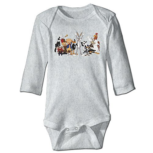 Baby 100% Cotton Long Sleeve Onesies Toddler Bodysuit The Bugs Bunny Show Climbing Clothes Ash Size 24 Months